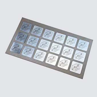 adhesivos papel plata