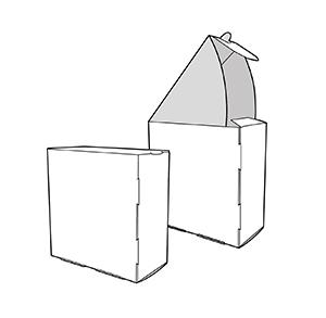 caixa abatible