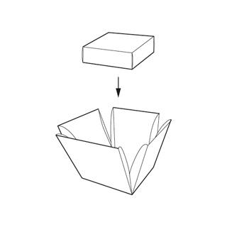 caixa cub desplegable amb tap