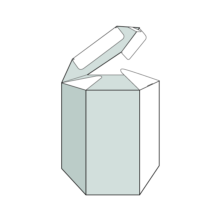caixa hexagonal