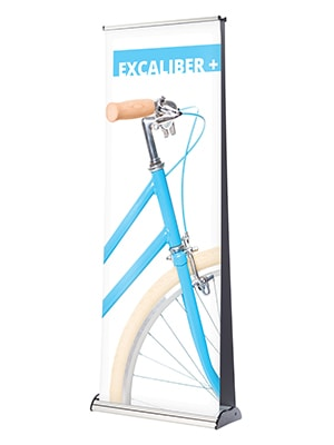 Expositor doble cara roll-up. Expositors portàtils.
