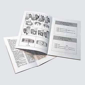 Productes enquadernats: Manual d'instruccions grapat amb imatges