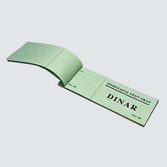 Control esdeveniments: Tiquet dinar