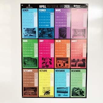 Calendari pòster personalitzable