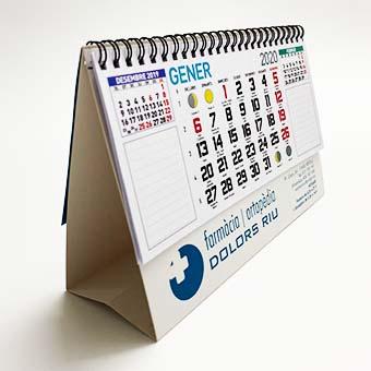 Calendari sobretaula personalitzable
